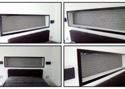 Tête de lit en acier, Poème de Victor Hugo