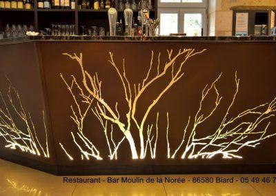 Habillage de bar en EZ, peint